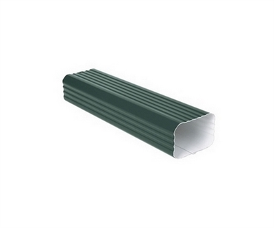 Image de Tube de Descente en Aluminium laqué 75 x 110 mm de 3 Mt